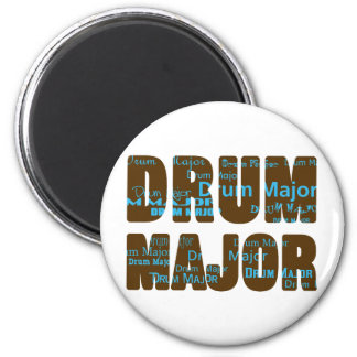 Drum Major Font 6 Cm Round Magnet