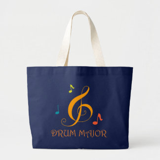 Drum Major Marching Band Music Tote Bag