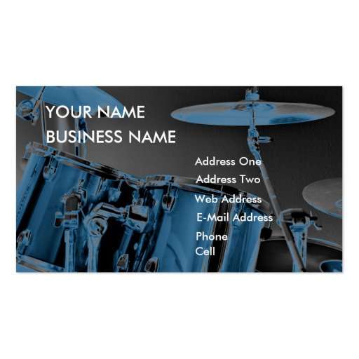 Drum - Music Business Card