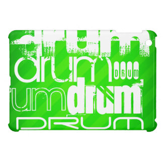 Drum; Neon Green Stripes Case For The iPad Mini