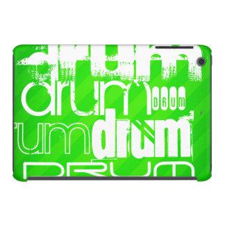 Drum; Neon Green Stripes iPad Mini Case