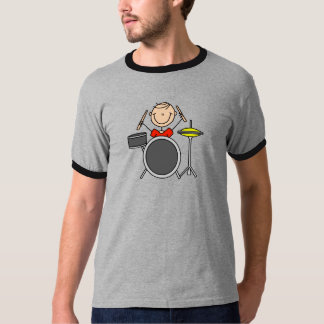 Drum Player Stick Figure Shirt