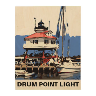 DRUM POINT LIGHT WOOD PRINT