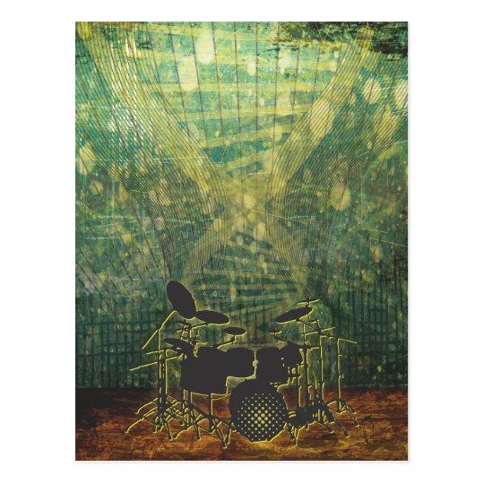drum poster grunge-1b postcard
