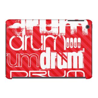 Drum; Scarlet Red Stripes iPad Mini Retina Covers