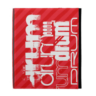 Drum; Scarlet Red Stripes iPad Cases