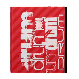 Drum; Scarlet Red Stripes iPad Cases