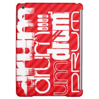 Drum; Scarlet Red Stripes iPad Air Case