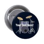 Drum Set 6 Cm Round Badge