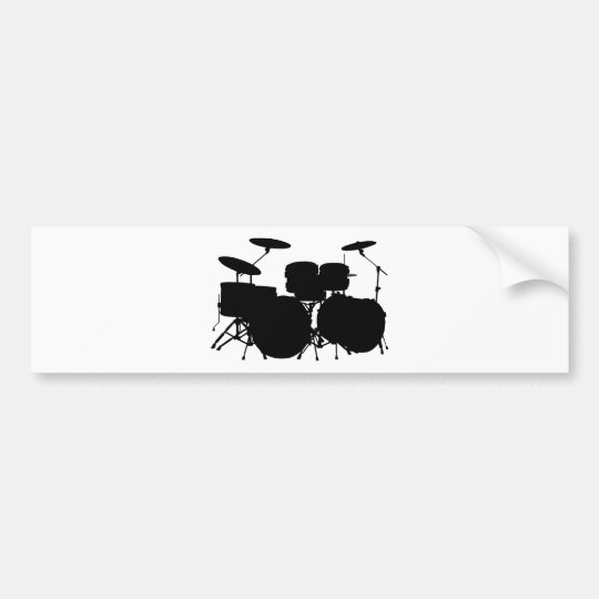 Drum Set Bumper Sticker