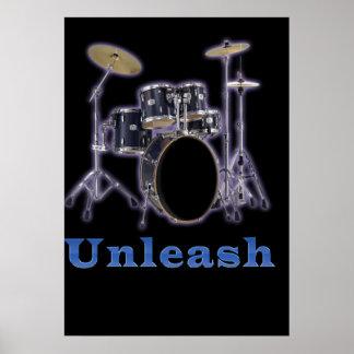 Drum set designs posters