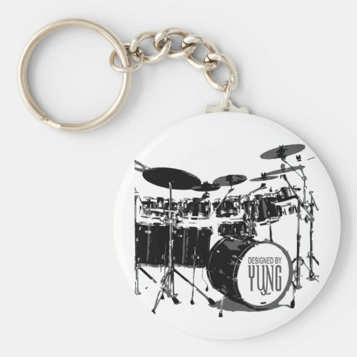 Drum Set Key Chain