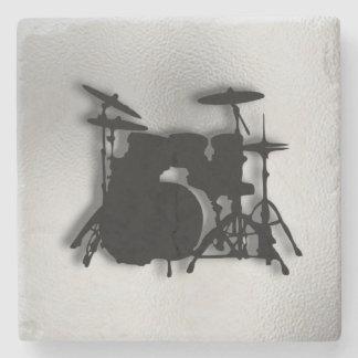 Drum Set Music Design Stone Coaster