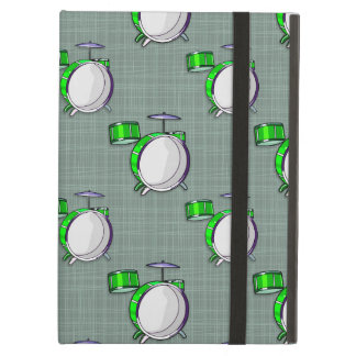 Drum Set Neon Green Drums Case For iPad Air
