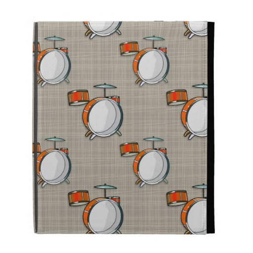 Drum Set; Orange Drums iPad Cases