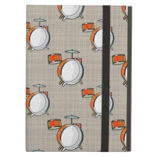 Drum Set; Orange Drums iPad Air Cases