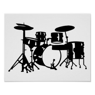 Drum set percussion posters