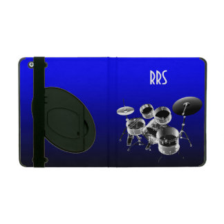 Drum Set Personalized Monogram Gift iPad Cover