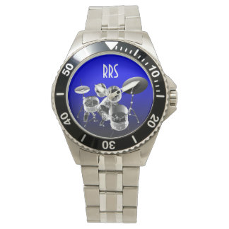 Drum Set Personalized Monogram Gift Watch