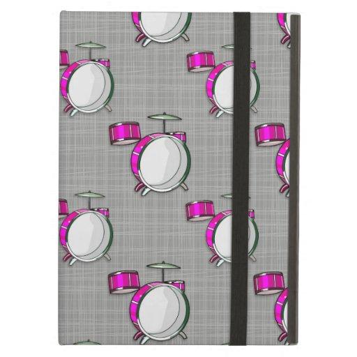 Drum Set; Pink Drums iPad Air Cases