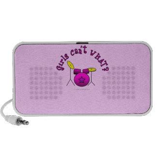 Drum Set - Pink Notebook Speakers