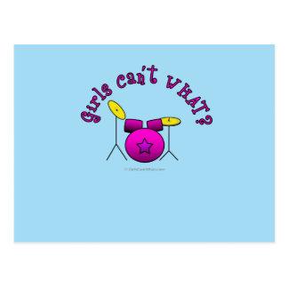 Drum Set - Pink Postcards