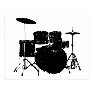 Drum Set Postcard