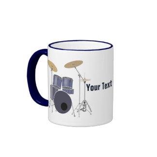 Drum Set Ringer Coffee Mug