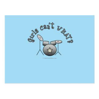 Drum Set - Silver Post Card