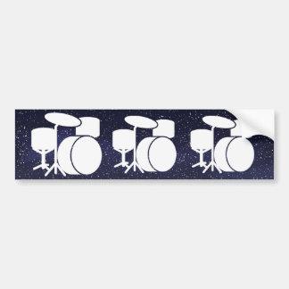 Drum Stands Minimal Bumper Sticker