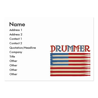 Drum Stick USA Flag Drummer Tees and Gifts Pack Of Chubby Business Cards