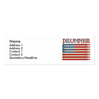 Drum Stick USA Flag Drummer Tees and Gifts Pack Of Skinny Business Cards