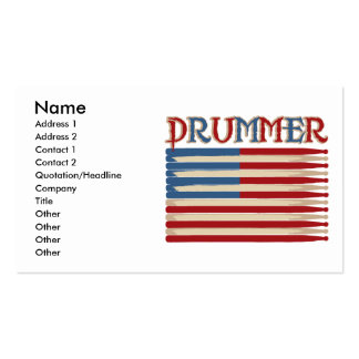 Drum Stick USA Flag Drummer Tees and Gifts Pack Of Standard Business Cards