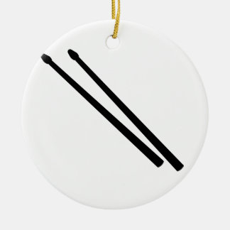 Drum Sticks Round Ceramic Decoration