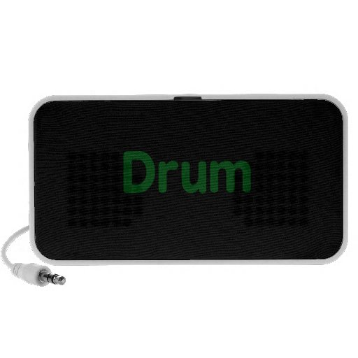drum text green music design iPod speakers