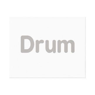 drum text grey music design canvas prints