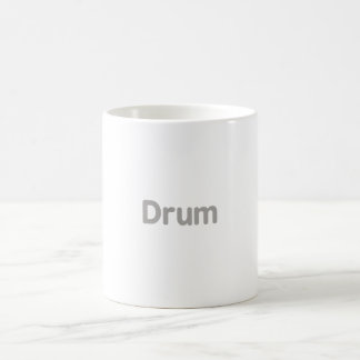 drum text grey music design coffee mug