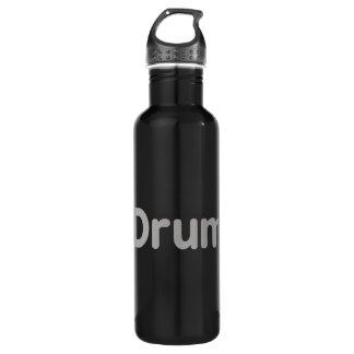 drum text grey music design 710 ml water bottle