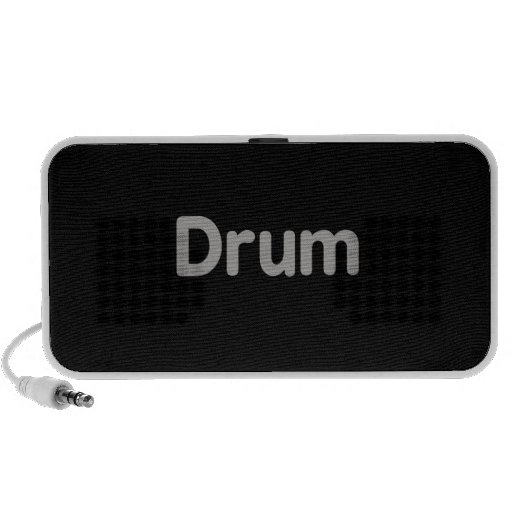 drum text grey music design iPhone speakers