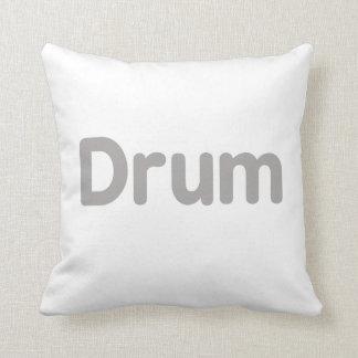 drum text grey music design throw pillow