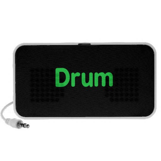 drum text mint music design mini speakers