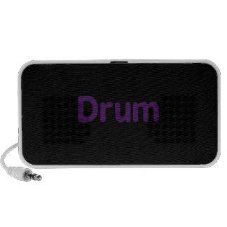 drum text purple music design mp3 speakers