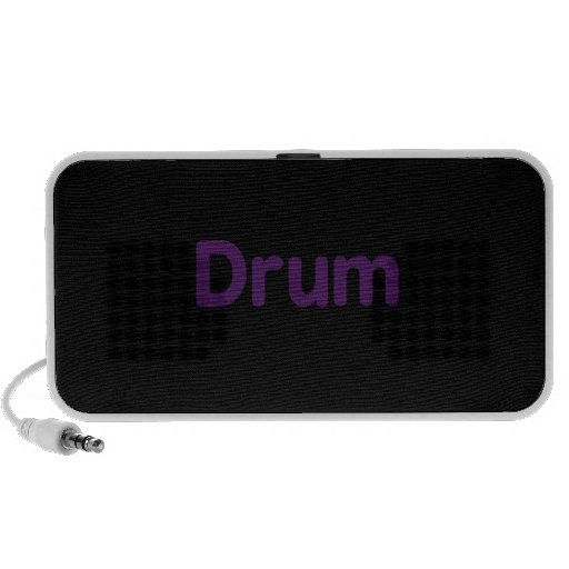 drum text purple music design mp3 speakers