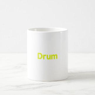 drum text yellow music design mug