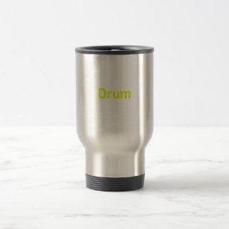 drum text yellow music design coffee mugs