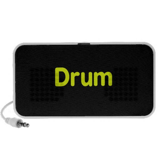 drum text yellow music design laptop speakers