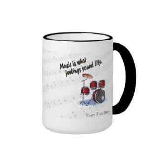 Drum Version What Feelings Sound Like - Customize Coffee Mug