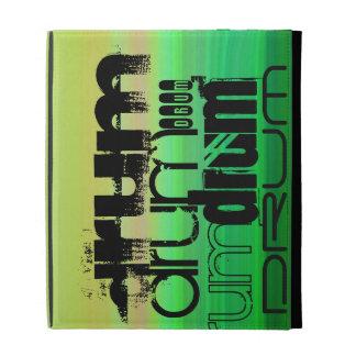 Drum; Vibrant Green, Orange, & Yellow iPad Folio Covers