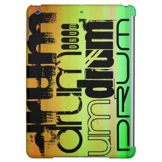 Drum; Vibrant Green, Orange, & Yellow iPad Air Covers