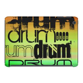 Drum; Vibrant Green, Orange, & Yellow iPad Mini Cover